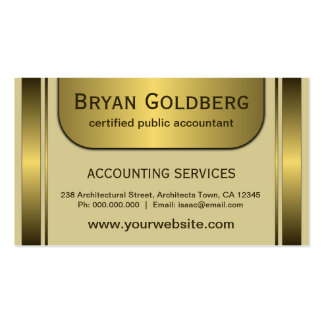 Elegant Cream Gold CPA Accountant Business Cards Business Card Template