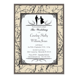 Elegant Cream Modern Simple Wedding Invitation