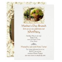 Elegant Cream Roses Mother's Day Brunch Invitation