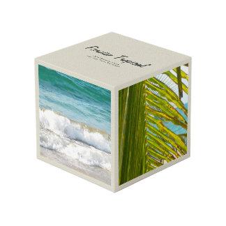 Elegant Cream Tropical Cube