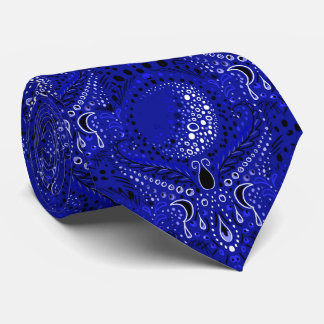 elegant crescent moon damask necktie