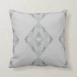 Elegant Criss-Cross Design in Gray or Any Color Throw Pillow