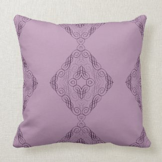 Elegant Criss-Cross Design in Purple or Any Color Throw Pillow