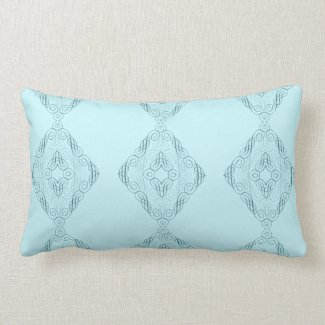 Elegant Criss-Cross Design in Teal or Any Color Throw Pillows