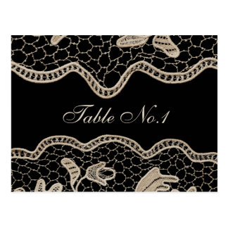 Elegant Crochet Lace, Table Number Postcard