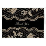 Elegant Crochet Lace Thank You Card