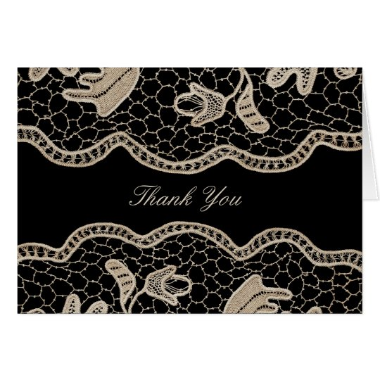 Elegant Crochet Lace Thank You Card
