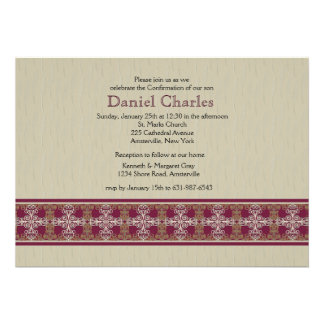 Elegant Cross Border Religious Invitation