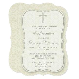 Elegant Cross Holy Communion Or Confirmation Card