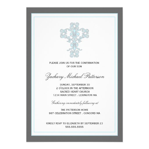Personalized Confirmation Invitations CustomInvitations4Ucom