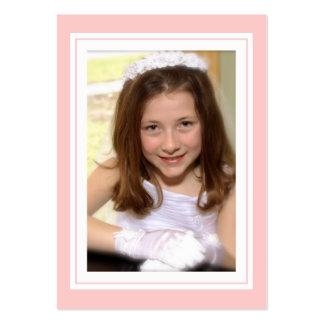 Elegant Cross in Pink Favor Photo Card