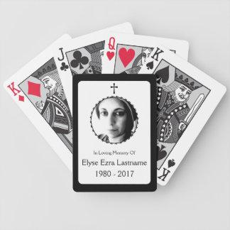 elegant cross memorial gift card decks