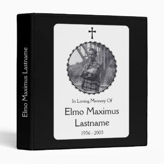 elegant cross memorial service guest book 3 ring binder