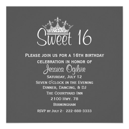 Personalized Teen party Invitations – 16th Party Invitation Templates