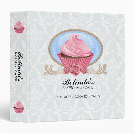 elegant cupcake bakery 1 5 inch binder
