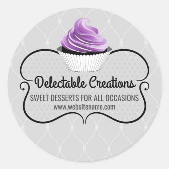 Elegant Cupcake Bakery Box Seals | Zazzle.comZazzle