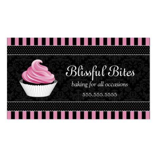 Elegant Cupcake Bakery Business Cards (front side)