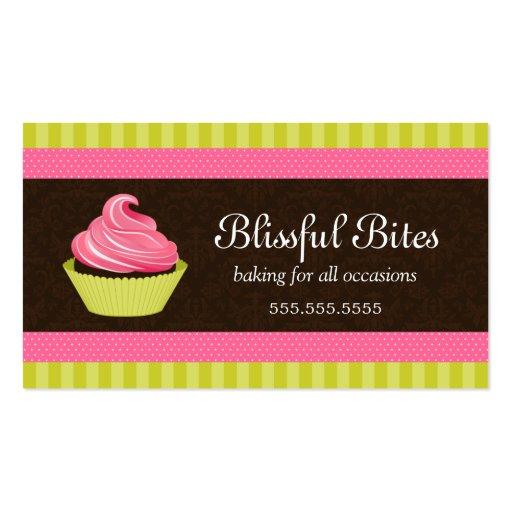 Elegant Cupcake Bakery Business Cards