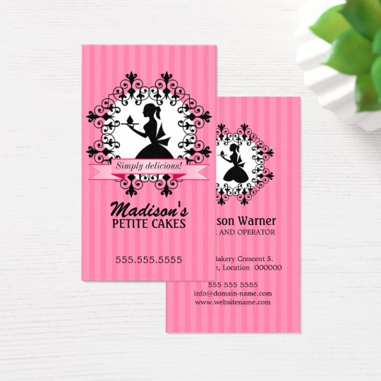 Elegant Cupcake Business Card