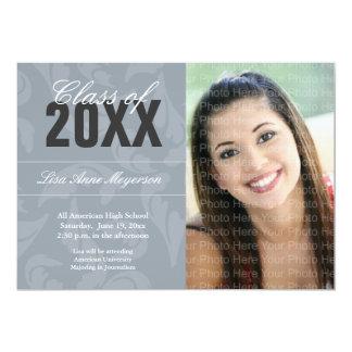 Elegant Curls Pattern: Silver Card