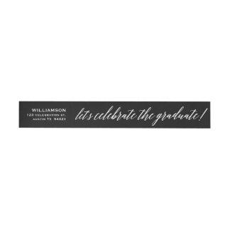 Elegant Cursive Celebrate the Graduate Seal Wrap Around Address Label