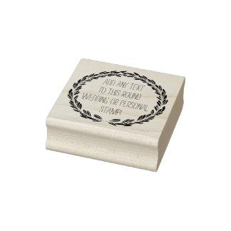Elegant Custom Any Text Circle Round Wedding Stamp