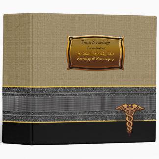 Elegant Custom Caduceus Medical Physician 3 Ring Binder