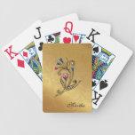 Elegant Custom Gold Tone Playing Cards