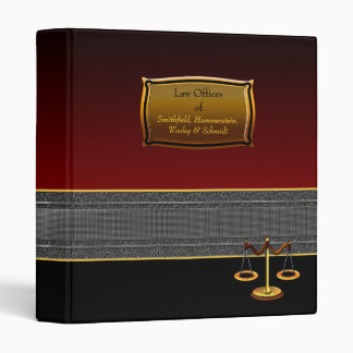 Elegant Custom Legal Business Binder