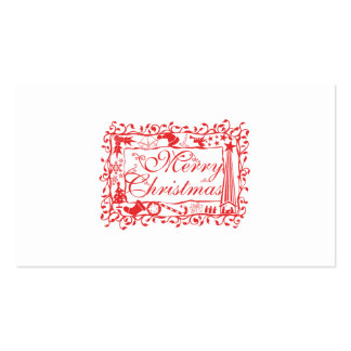 Elegant Custom Merry Christmas Floral Pattern Business Card