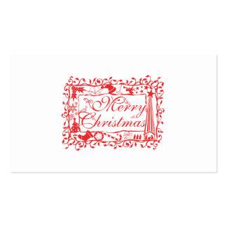 Elegant Custom Merry Christmas Floral Pattern Card