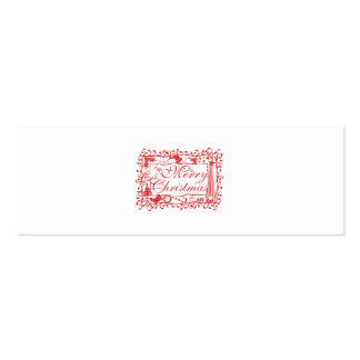 Elegant Custom Merry Christmas Floral Pattern Mugs Mini Business Card