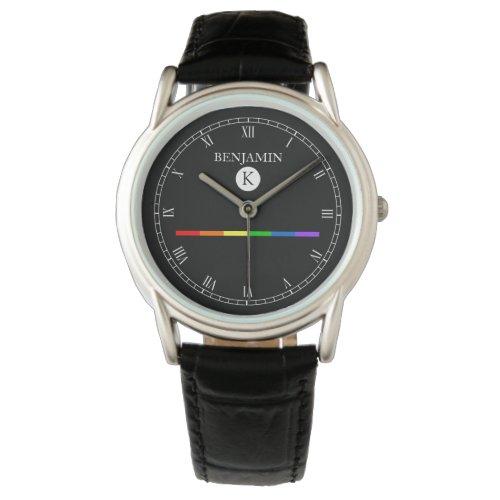 Elegant Custom Monogram Gay LGBT Watch