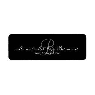 Elegant Custom Monogram Return Address Labels