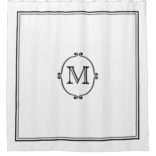 Elegant Custom Monogram Shower Curtain at Zazzle