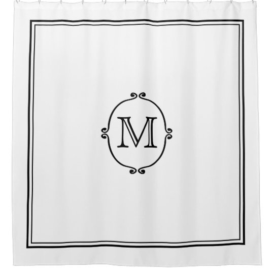 Elegant Custom Monogram Shower Curtain
