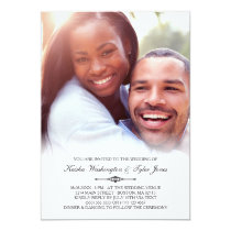 Elegant Custom Photo Wedding Invitation