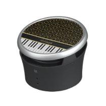 Elegant Custom Piano Keys with Gold Quatrefoil Bluetooth Speaker