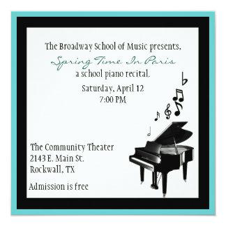 Elegant Custom Piano Recital Invitation