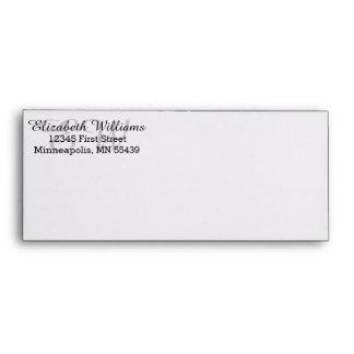 Elegant Custom Return Address #10 Envelope