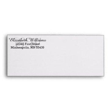 Professional Business Elegant Custom Return Address #10 Envelope