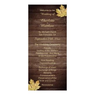 Elegant Custom Rustic Maple Leaf Wedding Programs