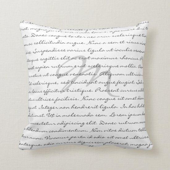 Elegant Custom Text Throw Pillow
