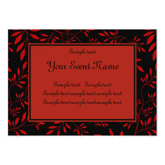 Elegant Customizable Black and Red Nature Event Card