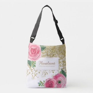 Elegant Customizable Boho Roses Bag