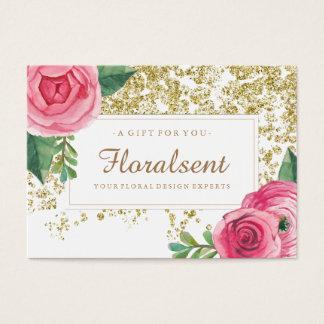 Elegant Customizable Floral Gift Certificate
