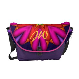 Elegant Customizable Fractal Design Messenger Bag