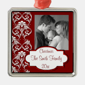 Elegant Customizable Photo Metal Ornament