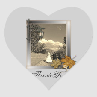 Elegant Customizable Photo WeddingFavor Heart Sticker