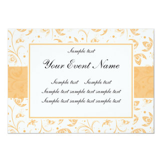 Elegant Customizable White and Peach Floral Card
